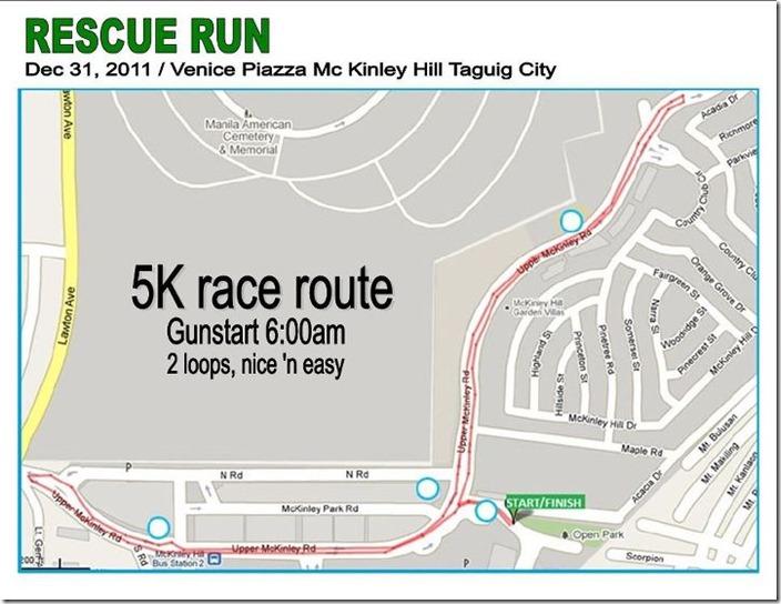 Rescue run map