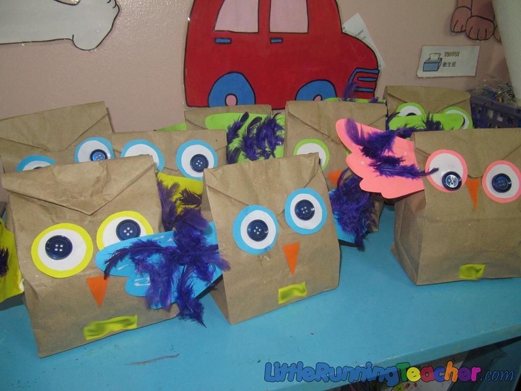 Paper Bag Owl Craft Little Running Teacher