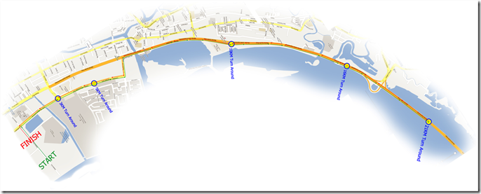 Run 800 map