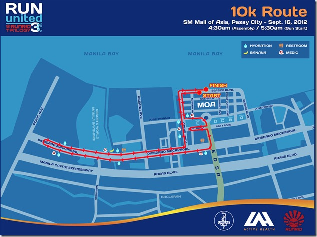 Run United 3 2012 10k Route