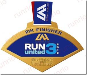 Run United 3 2012 21k Medal