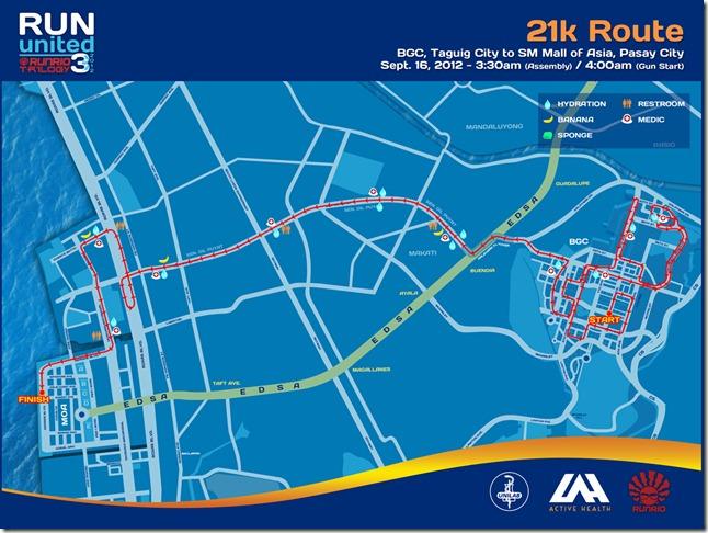 Run United 3 2012 21k Route