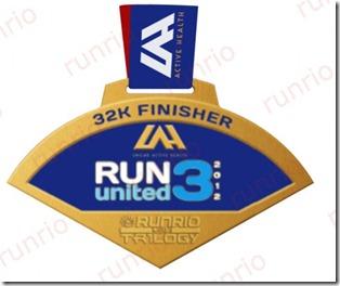 Run United 3 2012 32k Medal