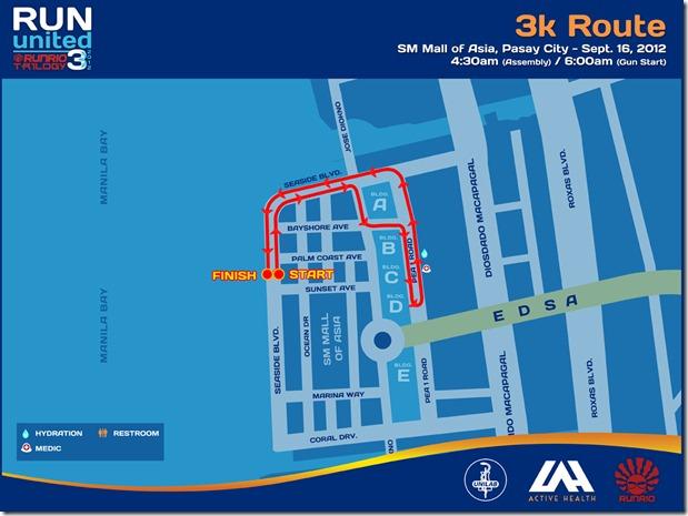 Run United 3 2012 3k Route