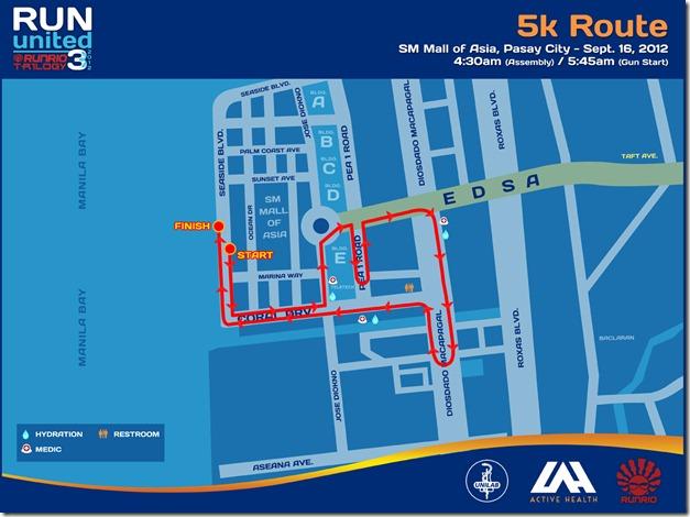 Run United 3 2012 5k Route