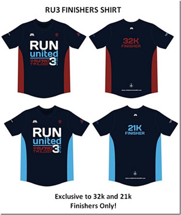 Run United 3 2012 Finishers Shirt