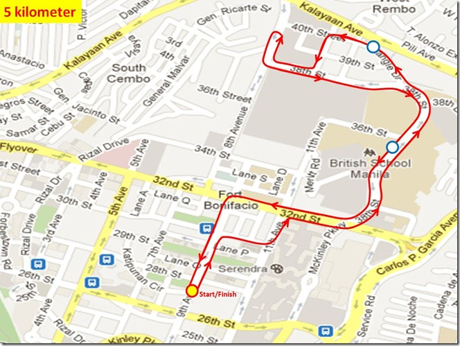 Ensure to Endure 5km route