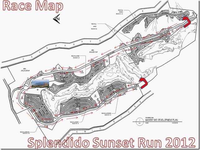 Race Map Splendido Sunset Run December 8, 2012