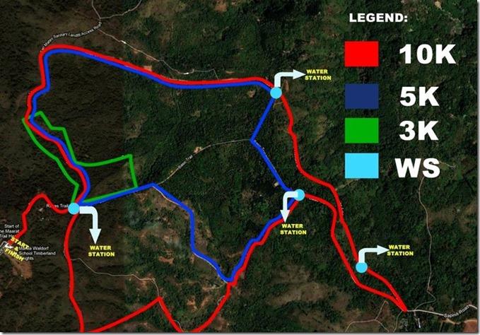 Waldorf Trail Run race route