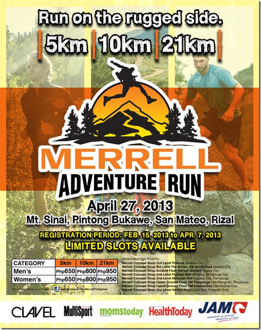 Merrell Adventure Run poster