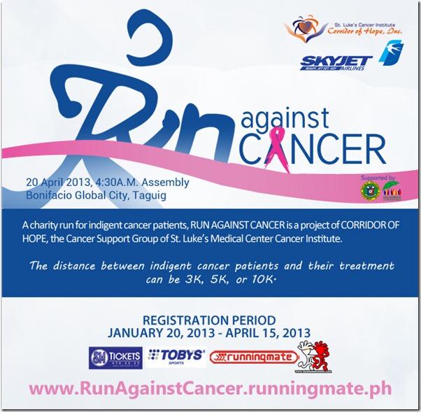 RUN AGAINST CANCER Info Sheet