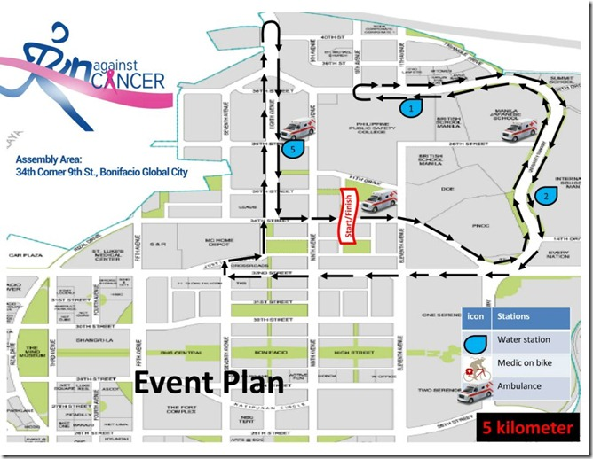 Race Against Cancer 5km route