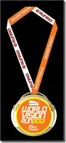 World Vision Run 21k medal