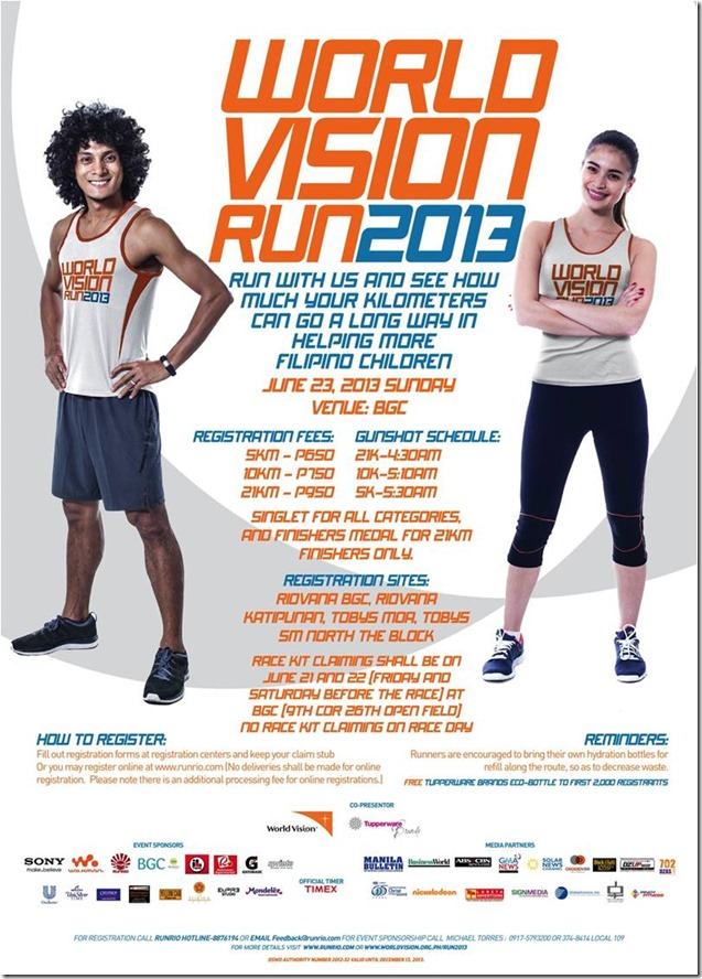 World Vision Run poster