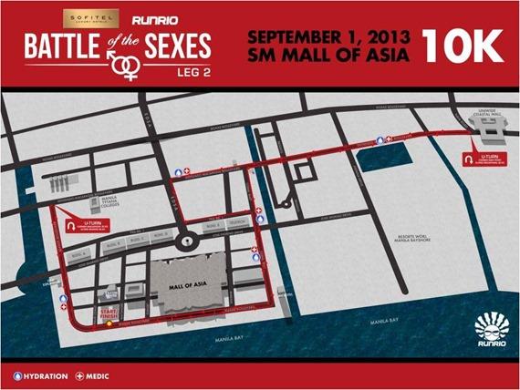 Battle of the Sexes 10k Route