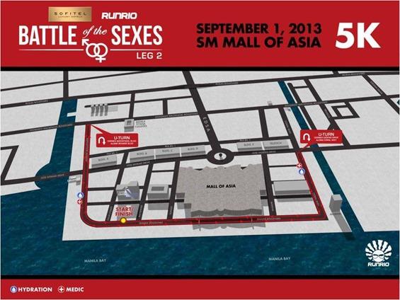 Battle of the Sexes 5k Route