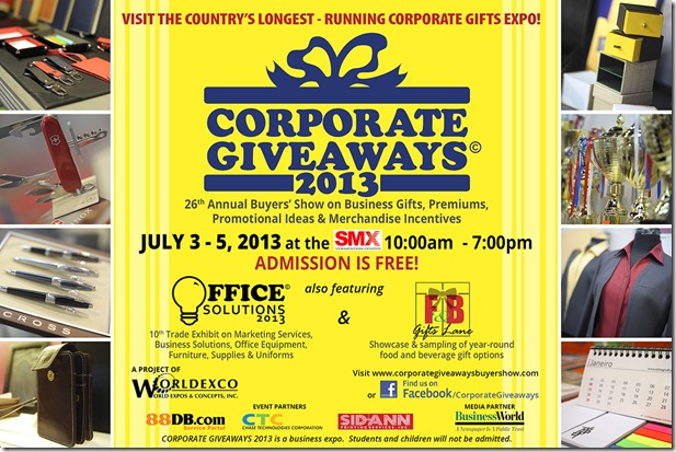 Corporate Giveaways Flyer