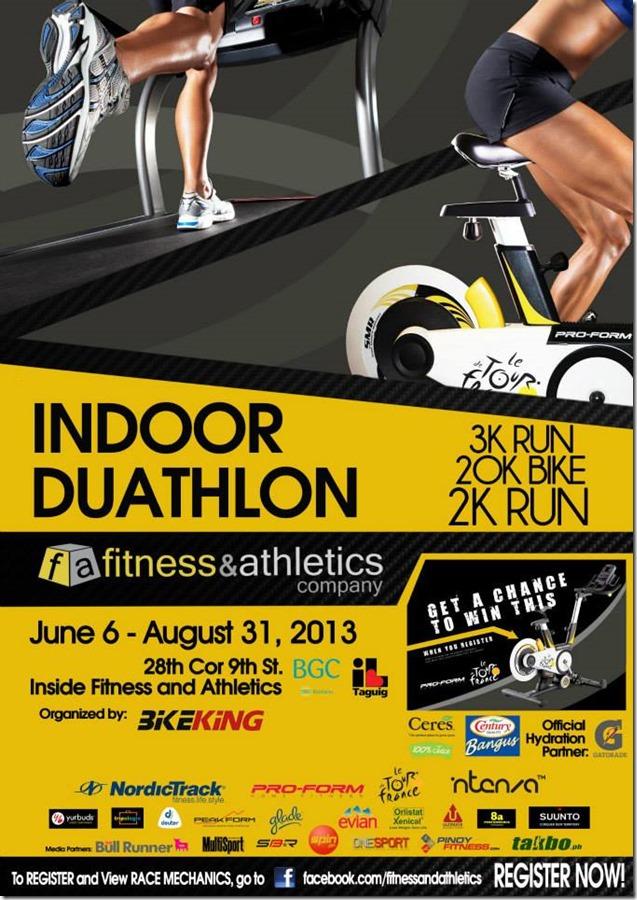 Indoor duathlon poster