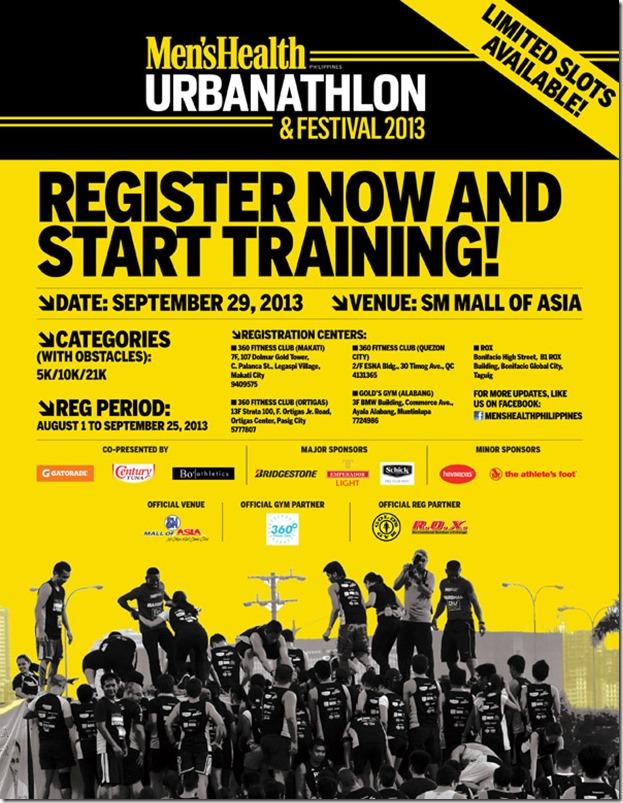 Mens Health Urbanathlon poster