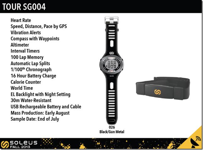 Soleus GPS Tour SG004