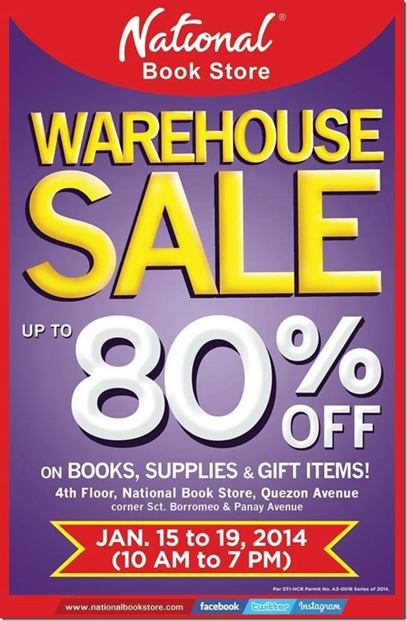 National Bookstore warehouse Sale
