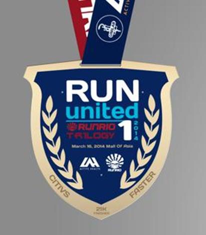 Run United 1 2014 21km Finishers Medal