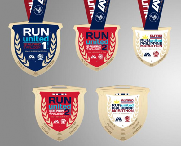Run United Trilogy Medals