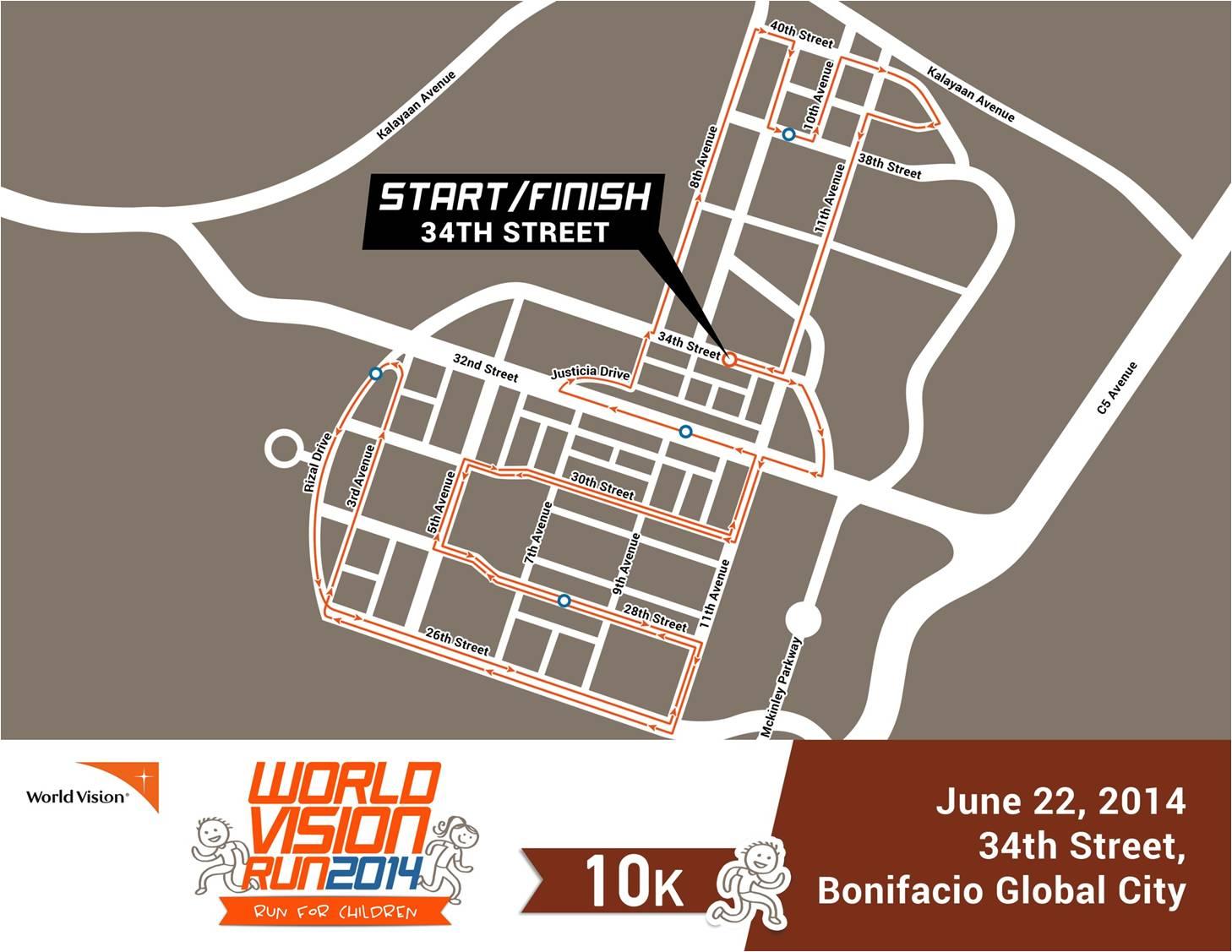 World-Vision-Run-Race-Route-10k