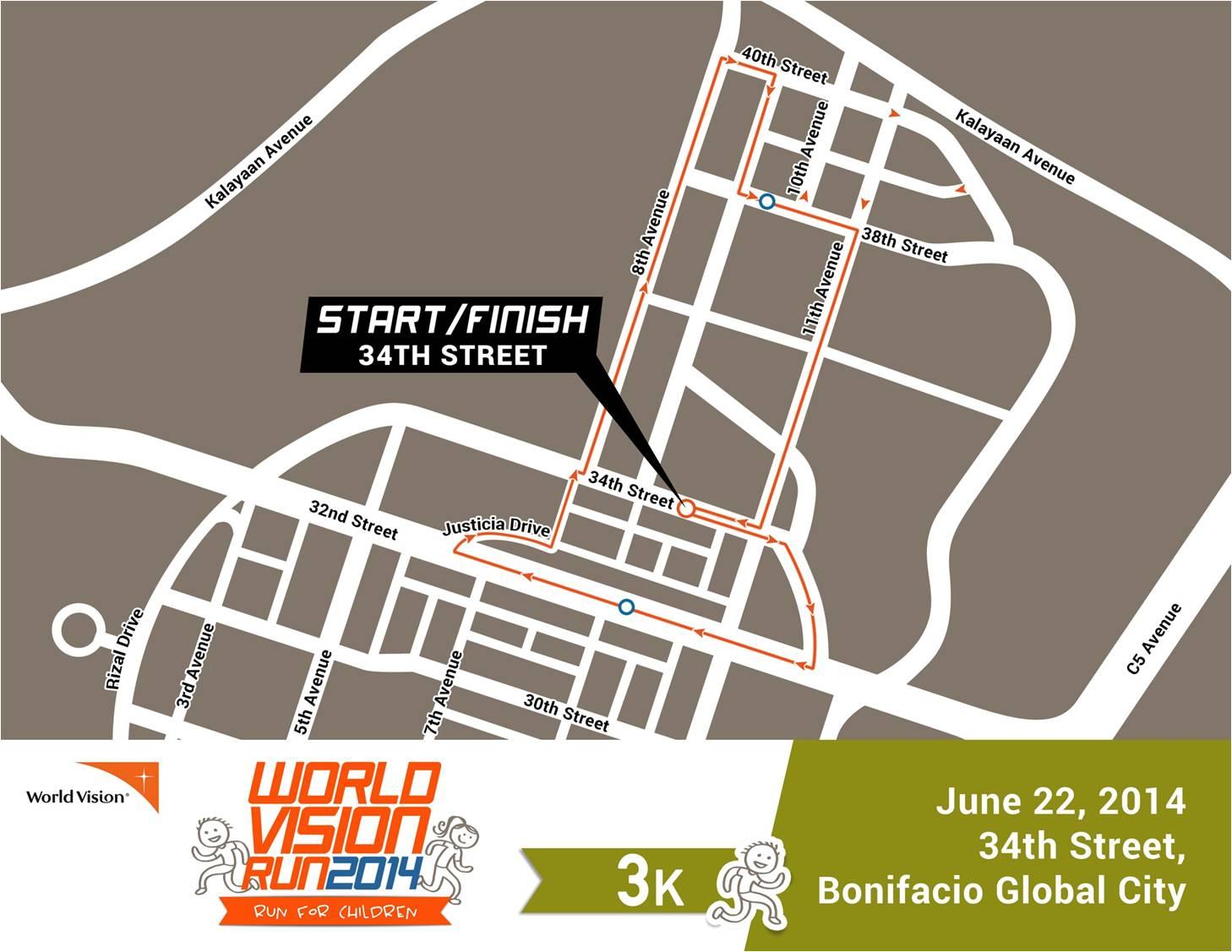 World-Vision-Run-Race-Route-3k