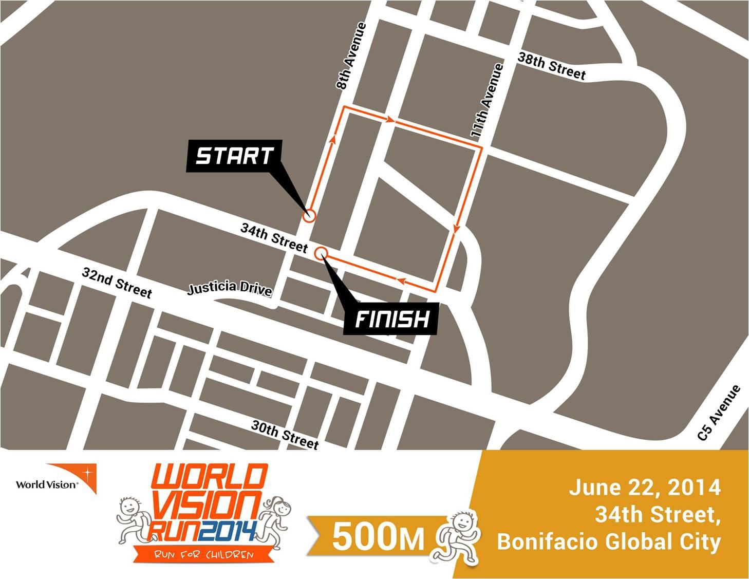 World-Vision-Run-Race-Route-500m