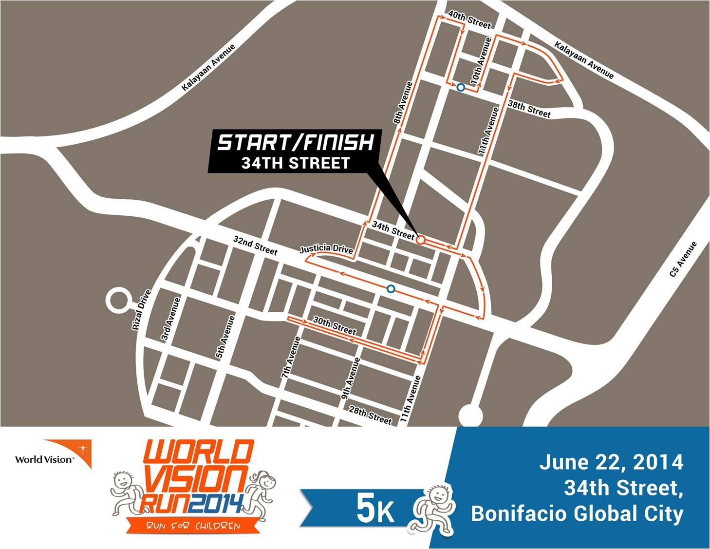 World-Vision-Run-Race-Route-5k