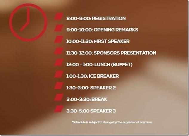SEO summit seminar schedule