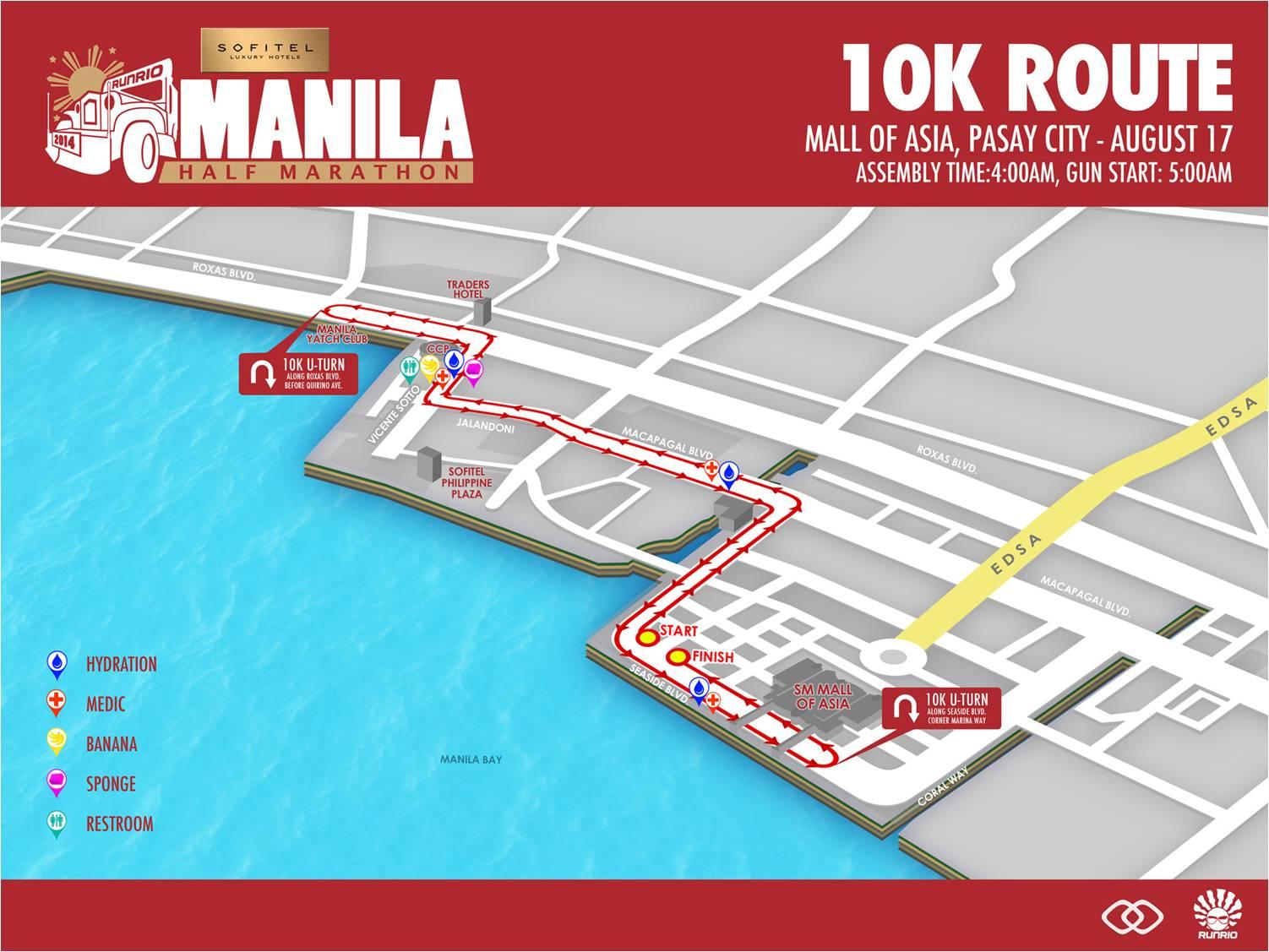 Sofitel Manila Half Marathon 10k route