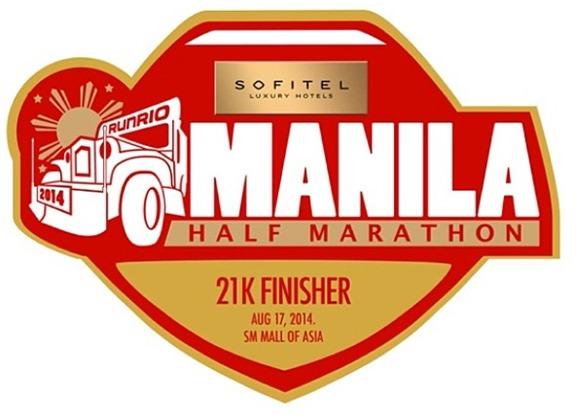 Sofitel Manila Half Marathon 21k medal
