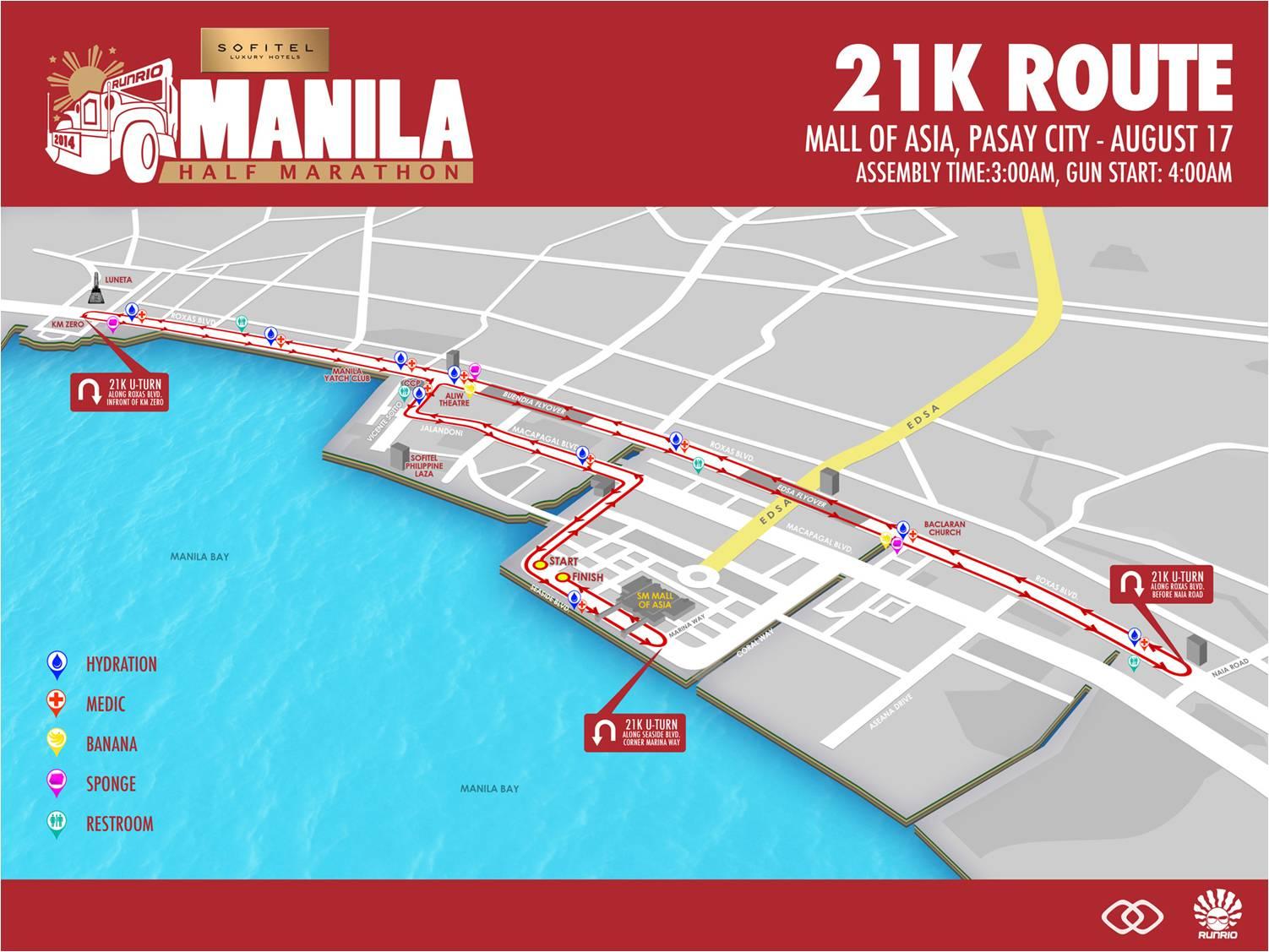Sofitel Manila Half Marathon 21k route