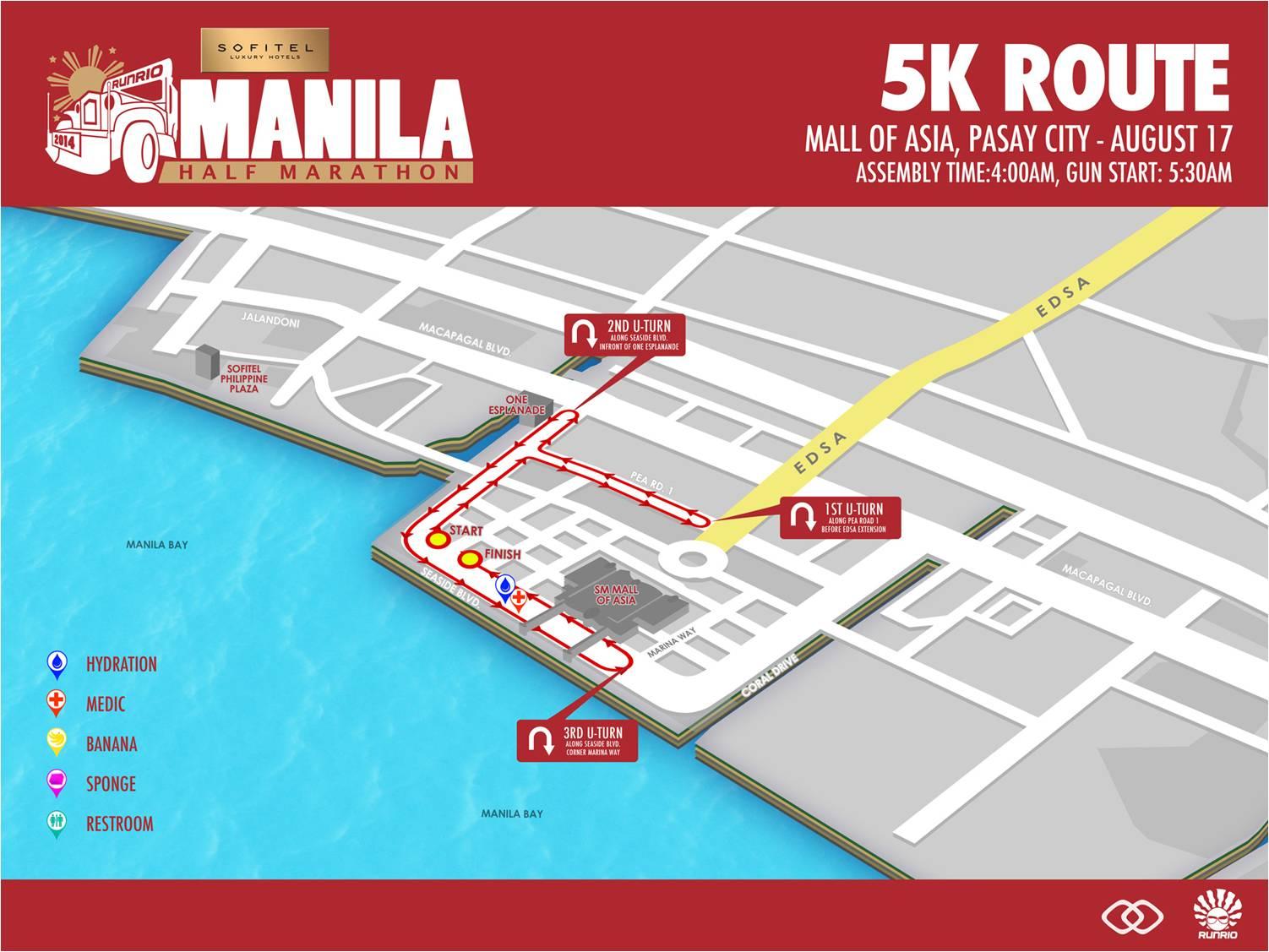 Sofitel Manila Half Marathon 5k route