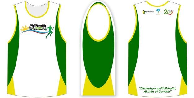 PhilHealth Run 2015 singlet design