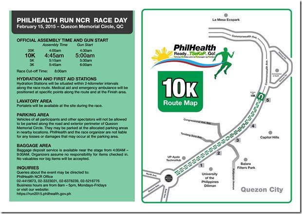 Phlhealth run race info sheet 10K