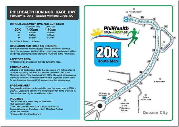 Phlhealth run race info sheet 20K