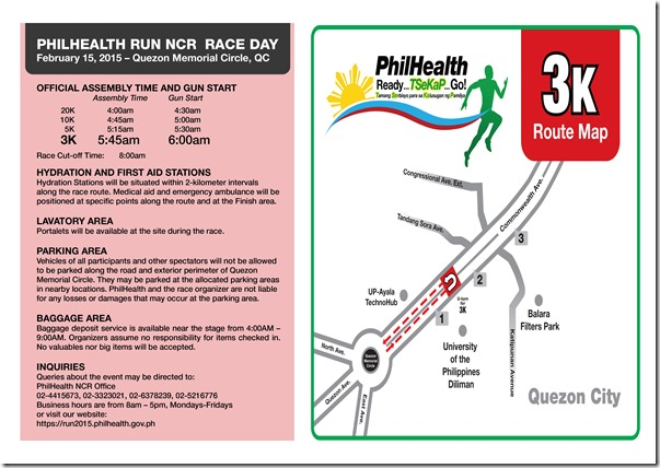 Phlhealth run race info sheet 3K
