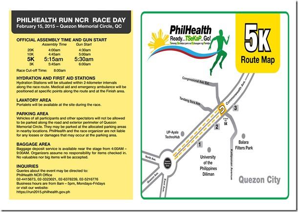 Phlhealth run race info sheet 5K