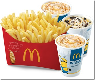 Minions BFF Fries 'N McFlurry Combo