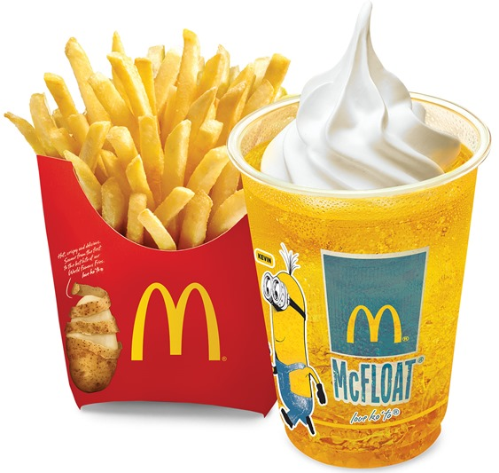 Minions Medium Fries 'N McFloat Combo