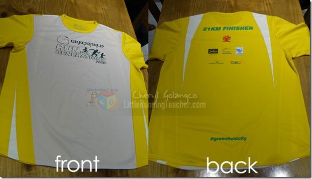 Greenfield City Run 2015 finishers shirt