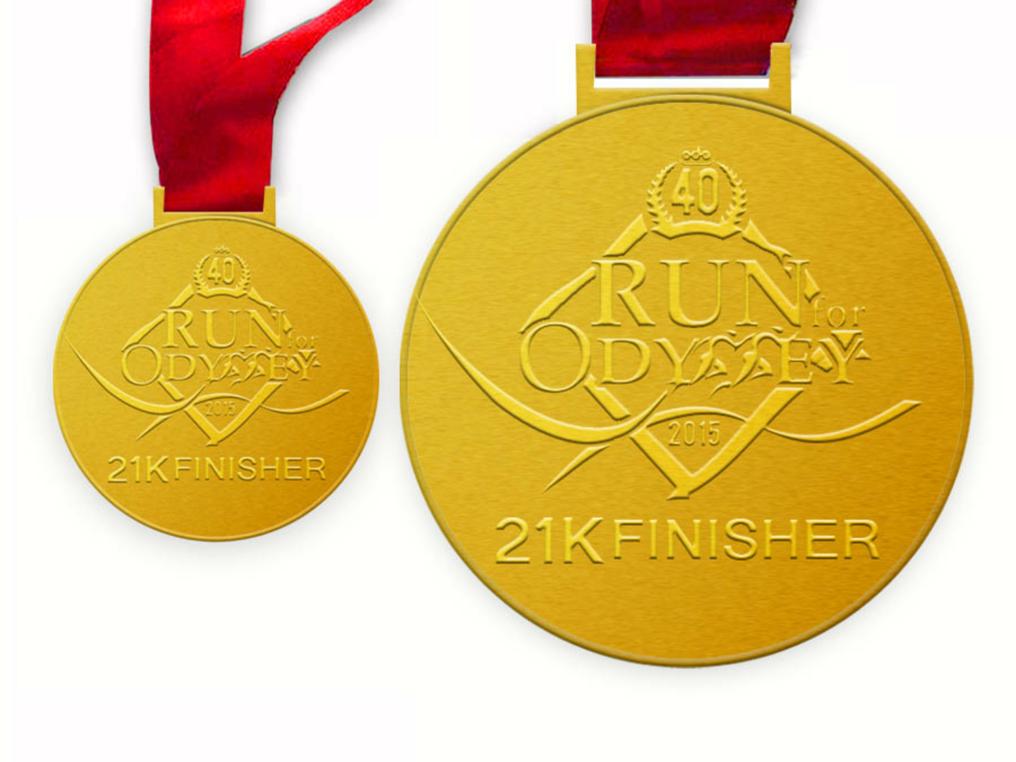 Run for Odyssey Finisher's Medal