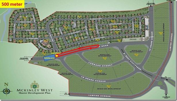 Sunpiology 500m Race Route