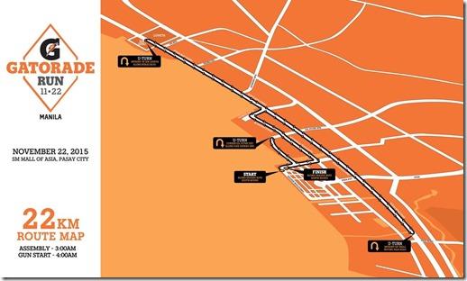 Gatorade 22km Race Route