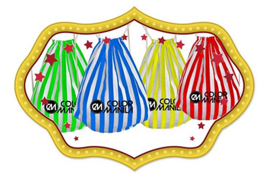 Color Manila Run Draw String Bags